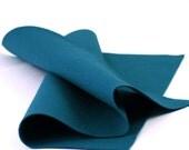 "100% Wool Felt Sheet in Color PEACOCK - 18"" X 18"" Wool Felt Sheet - Merino Wool Felt - Craft Felt"