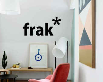 FRACK word minimal vinyl wall decal for your personal bed room and living room decoration (ID: 131023)