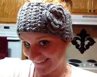 Flower Headband, Flower Ear warmer, Flower Hair Accessories, Mothers Day Gift, Christmas Gift, Handmade Gift