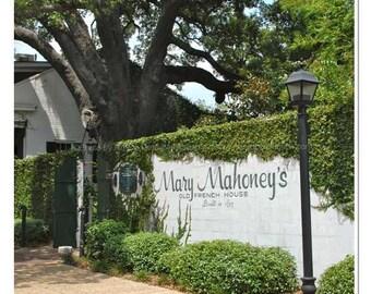 Mary Mahoney's Photo - Mississippi Photography - Biloxi Historic Building Print -  Mississippi Coast - Mary Mahoneys Restaurant