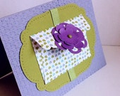 Hand made cards: Stampin 'Up handmade card -  mini envelope - secret message - olive green - Lavender - blank greeting cards - Wcards