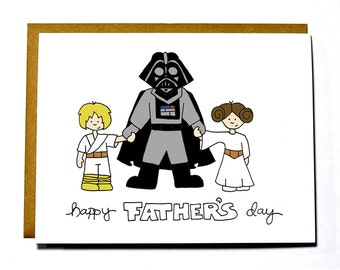 Funny Father's Day card - Star Wars, eco friendly