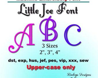 Downloadable Machine Embroidery Monogram Alphabet:  Little Joe Font.