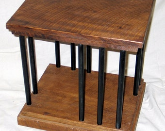 Rustic Iron and Wood Side Table