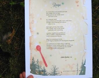 Recipe poem, by Sophia Rosenberg