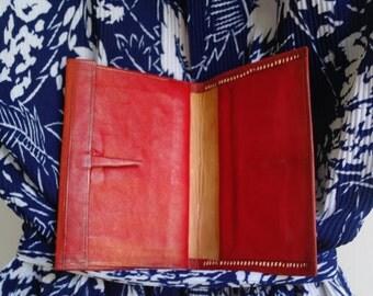 Vintage red leather Wallet