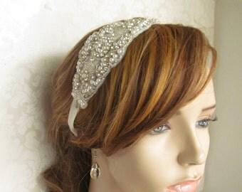 Ribbon Headband/ Bridal Satin Ribbon Headband / Bridal Fascinator