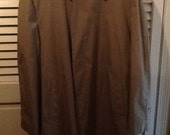 London Fog Mens khaki tan trench coat nwot size 42 regular with liner