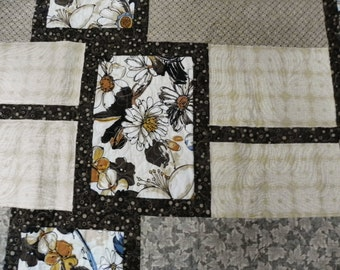 Gold and earth tones Lap Quilt or Twin