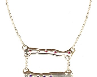 Droplets of Opulence: Tri-tiered Bar Necklace