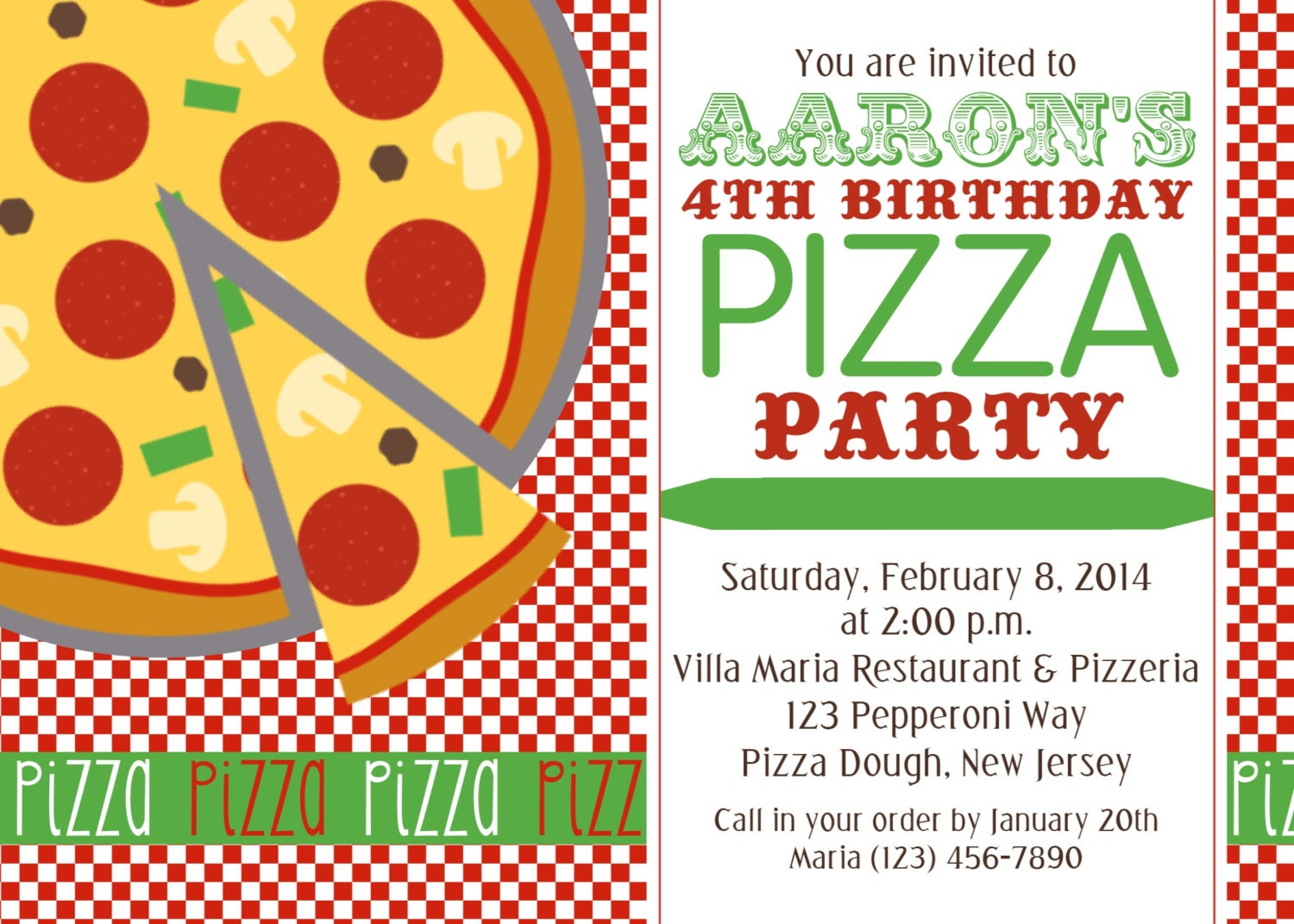 Pizza Party Invitation and get inspiration to create nice invitation ideas