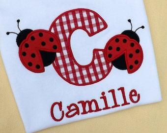 Ladybug Letter T-shirt or Bodysuit