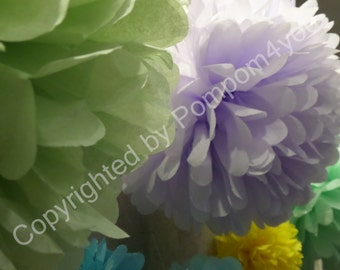 BEST DEAL - 14 Tissue Paper Pom Pom Mix for sale!