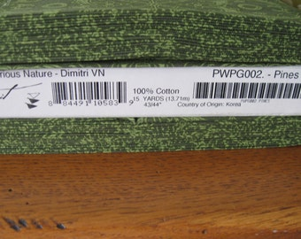 Curious Nature Fabric by David Butler Dimitri in Pines for Free Spirit Fabrics 1 yard
