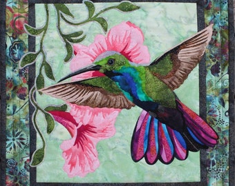 Hummingbird Quilt Pattern by Toni Whitney Design Bird DIY Quilting Applique