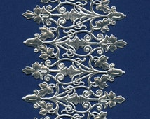 Silver Decorations DRESDENS - Dresden Trims - Silver Ornate Paper Decorations - Dresdens - Silver Foil Embellishments
