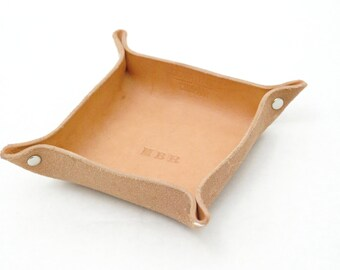 Leather Catchall Valet Tray / Made in USA