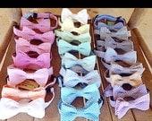 Seersucker Classic Stripe Child or Infant Adjustable Bow Tie (pick your color)