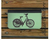 wallet iphone 5 case, wallet iphone 4 case, bird on bike