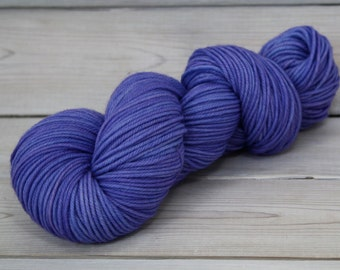 Calypso - Hand Dyed Superwash Merino Wool DK Light Worsted Yarn - Colorway: Columbine