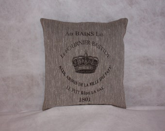 Vintage Linen Flax French Style Pillow
