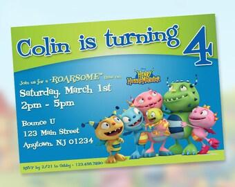 Henry Hugglemonster Birthday Invitations / Digital File / You Print