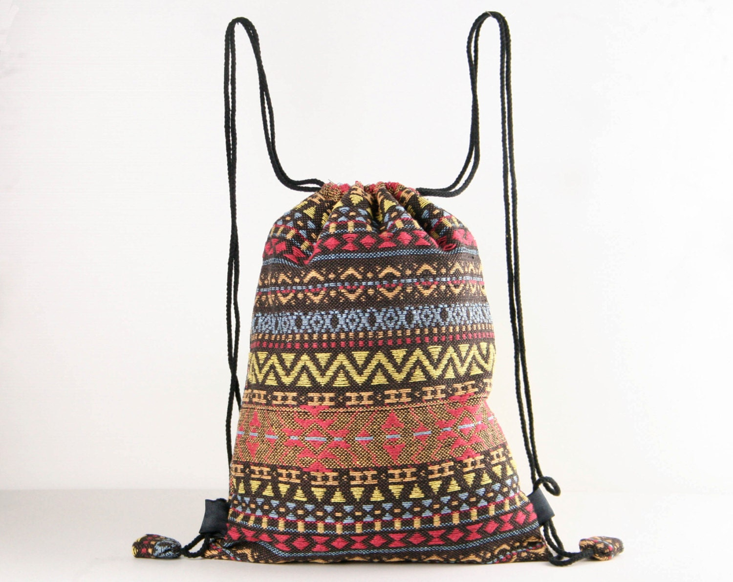 Native American Indian/Aztec/Inca Tribal Drawstring Backpack