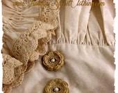 Vintage Sweet Clothing - Cedar Chest Treasures - Baby Heirloom Portrait - Girls Tunic & Bloomers set