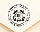 Coast Guard - Personalized Address Stamp - Military - FREE SHIPPING