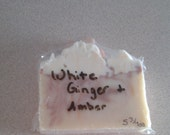White Ginger and Amber cold process soap