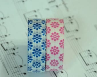 2 Rolls of Japanese Washi Masking Tape Roll- Floral