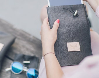 Leather iPad Mini Case / grey leather/ minimalist style