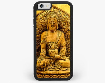 IPHONE 6 Plus CASE, iPhone 6 Cover, Sunset Buddha Rubber iPhone Case