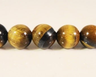 Tiger Iron Gemstone Beads 6mm Round Brown Semiprecious Stone Beads on a 7 1/2 Inch Strand with 31 Beads