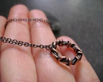 CROWN OF THORNS Pendant - Easter Gift, Spiritual Jewelry, Copper Jesus Pendant, Unisex Pendant, Religious Pendant, Christian Jewelry, Thorns
