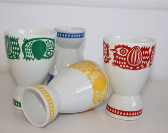 """Retro, dual purpose cups, """"Kananpoika"""" """"chick"""", by Arabia Finland- one or entire set- your pick- see pricing"""