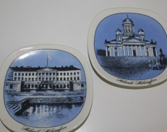 """Arabia Finland wall plate by your choise from """"Turisti"""" """"Tourist' series"""