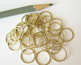 20 brass rings 14mm
