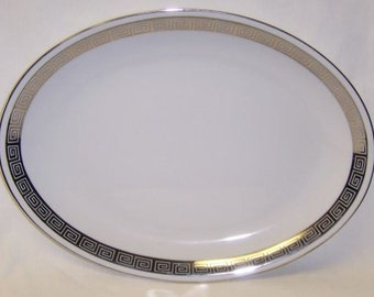 Harmony House Fine China Japan ROMAIC 12 1/4 Inch Oval Serving Platter