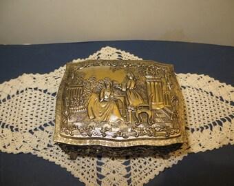 Vintage Silver-tone Trinket Box