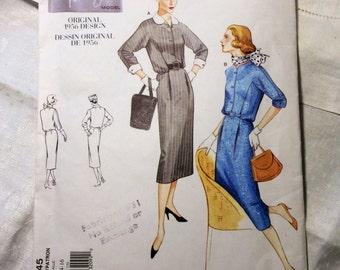 Vogue Vintage Model Pattern, Vogue 2445, Original 1956 Design, Women's Dress, Classic and Stylish