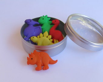 Dinosaur  Push Pins or Magnets