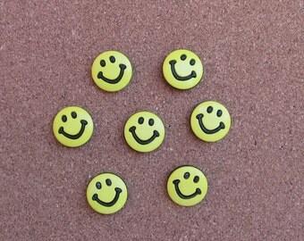Smiley Face  Thumb Tacks or Magnets