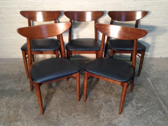Mid Century Danish Modern Dining Chairs Set Of 5 Wonderful