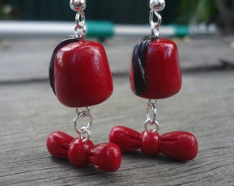 Fez and Bow tie Earrings - 11th Doctor, BBC's Doctor Who