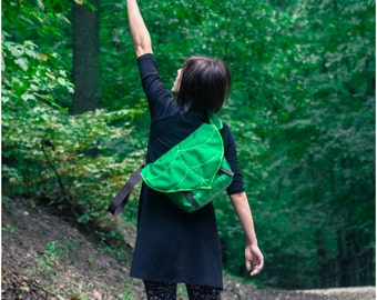 Leaf Bike Messenger Bag / Waterproof Bag / Cycling Backpack / Lightweight Bag / Bike Bag / Bicycle Bag / Backpack / Messenger Bag / Vegan
