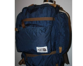 Rei Vintage External Frame Backpack Orange Pack Bag By
