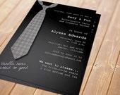 Sexy Tie Printable Invitation - Bachelorette Party, Lingerie Shower
