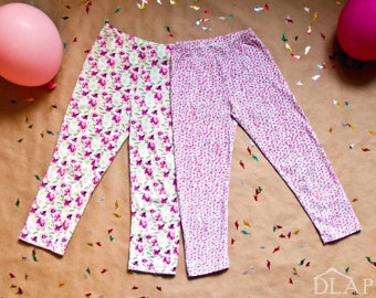 Kids LEGGINGS PATTERN & TUTORIAL  for girls and boys 1 to 10 years - Easy sewing Instant download pdf