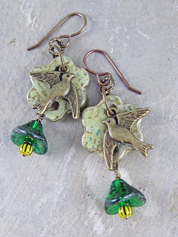 One of a kind earrings by Linda Landig Jewelry